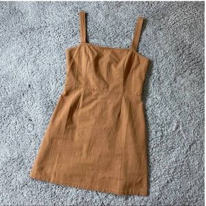 Kendall and Kylie Light Brown Dress